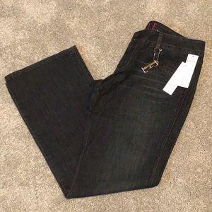 Elle Bootcut Low Rise Dark Knight Jeans 14 R NWT